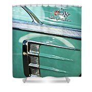1958 Chevrolet Impala Emblem Shower Curtain