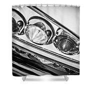 1958 Chevrolet Impala Taillight -0289bw Shower Curtain