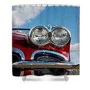 1958 Corvette Shower Curtain