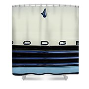 1958 Dodge Sweptside Truck Grille Shower Curtain