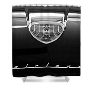 1958 Ford Fairlane 500 Victoria Hood Emblem Shower Curtain
