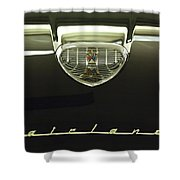 1958 Ford Fairlane 500 Victoria Hood Ornament Shower Curtain