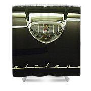 1958 Ford Fairlane 500 Victoria Hood Ornament Shower Curtain by Jill Reger