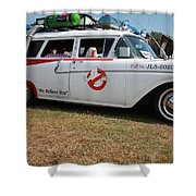 1958 Ford Suburban Ghostbusters Car Shower Curtain