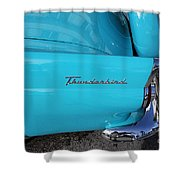 1958 Ford Thunderbird Detail Shower Curtain