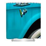 1958 Gmc Series 101-s Pickup Truck Side Emblem Shower Curtain