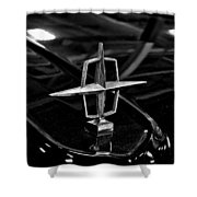 1958 Lincoln Continental Hood Ornament Shower Curtain