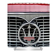 1958 Maserati Hood Emblem Shower Curtain