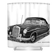1958 Mercedes Benz 220s Shower Curtain