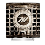 1958 Nash Metropolitan Grille Emblem Shower Curtain