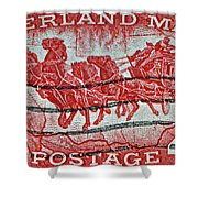 1958 Overland Mail Stamp Shower Curtain