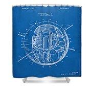 1958 Space Satellite Structure Patent Blueprint Shower Curtain
