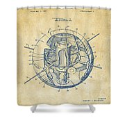 1958 Space Satellite Structure Patent Vintage Shower Curtain