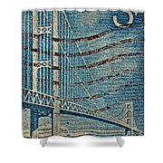 1958 The Mighty Mac Stamp Shower Curtain