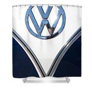 1958 Volkswagen Vw Bus Emblem Shower Curtain