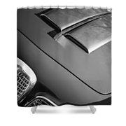 1959 Alfa Romeo 2000 Spider Grille Emblem -0482bw Shower Curtain