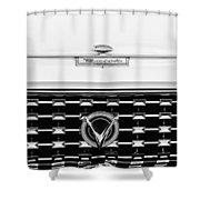 1959 Buick Lesabre Convertible Grille Emblems Shower Curtain