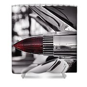 1959 Cadillac Eldorado Tailight Shower Curtain