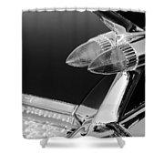 1959 Cadillac Eldorado Taillight -075bw Shower Curtain