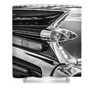 1959 Cadillac Eldorado Taillight -097bw Shower Curtain