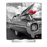1959 Cadillac Tail Fins Shower Curtain