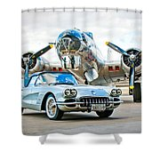 1959 Chevrolet Corvette Shower Curtain