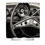 1959 Chevrolet Dash Shower Curtain