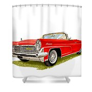 1959 Continental Convertible Shower Curtain