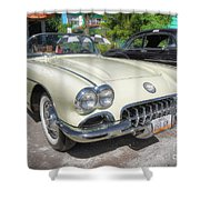 1959 Corvette Shower Curtain