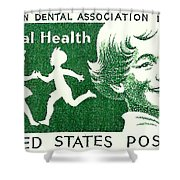 1959 Dental Health Postage Stamp Shower Curtain