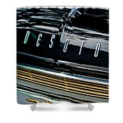 1959 Desoto Adventurer Hood Emblem Shower Curtain by Jill Reger