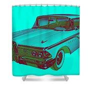 1959 Edsel Ford Ranger Modern Popart Shower Curtain