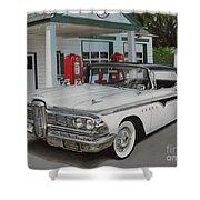 1959 Edsel Ranger Shower Curtain by Paul Kuras