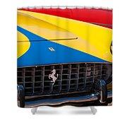 1959 Ferrari 250 Gt Coupe Grille Emblems Shower Curtain