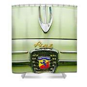 1959 Fiat 600 Derivazione 750 Abarth Hood Ornament Shower Curtain