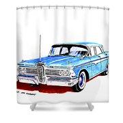 1959 Ford Edsel Ranger 4-door Sedan Shower Curtain