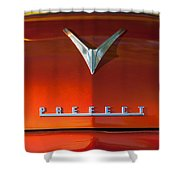 1959 Ford Prefect Hood Ornament Shower Curtain