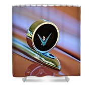 1959 Ford Thunderbird Convertible Hood Ornament Shower Curtain