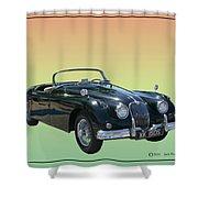 1959 Jaguar 150 S S Drop Head Coupe Shower Curtain