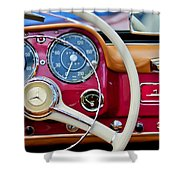 1959 Mercedes-benz 190 Sl Steering Wheel Shower Curtain