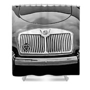 1959 Mg A 1600 Roadster Front End -0055bw Shower Curtain