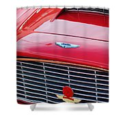 1960 Aston Martin Db4 Grille Emblem Shower Curtain