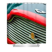1960 Aston Martin Db4 Gt Coupe' Grille Emblem Shower Curtain