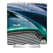 1960 Aston Martin Db4 Series II Grille - Hood Emblem Shower Curtain by Jill Reger
