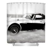 1960 Austin Healey Shower Curtain