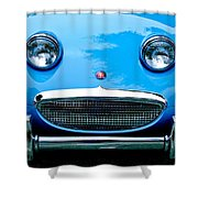 1960 Austin-healey Sprite Shower Curtain by Jill Reger
