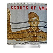 1960 Boy Scouts Stamp Shower Curtain