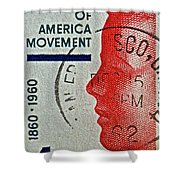 1960 Boys' Clubs Of America Movement Stamp Shower Curtain