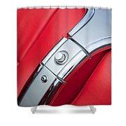 1960 Chevrolet Corvette Compartment Shower Curtain