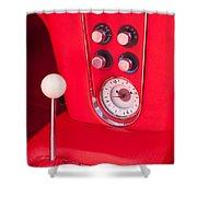 1960 Chevrolet Corvette Control Panel Shower Curtain